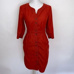 Maeve Anthropologie Corduroy Shirt Dress  SZ 2